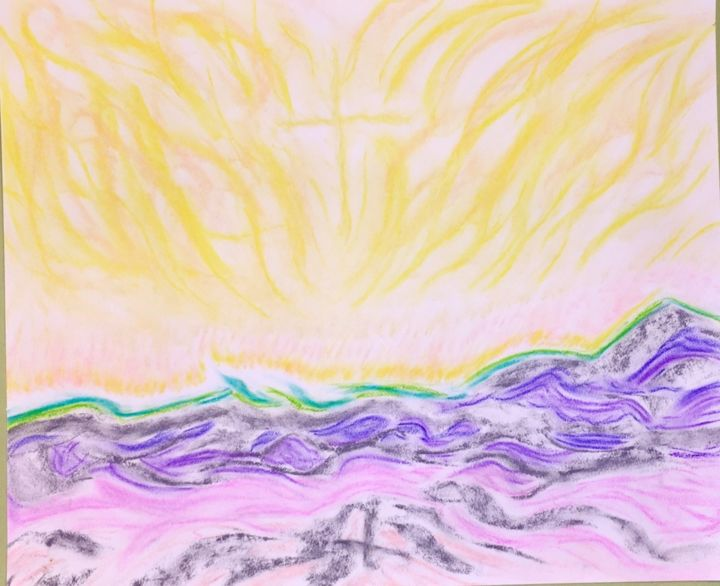 """Drawing titled """"The deepest mysteri…"""" by Anthony Spitaliere, Original Art, Pastel"""