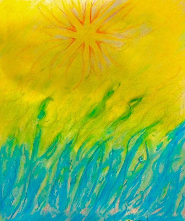 """Drawing titled """"Light of summer"""" by Anthony Spitaliere, Original Art,"""
