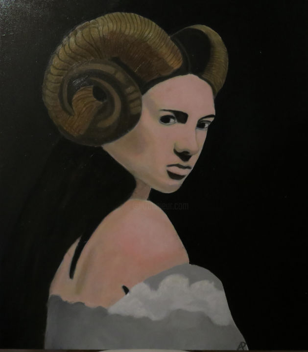"""Painting titled """"The Saytr's Wife"""" by Tony Perks, Original Art, Oil"""