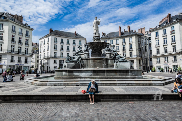 NANTES 5 - Photography,  11.8x17.7x0.8 in ©2019 by Maume Gallery -                                                                                            Environmental Art, Art Deco, Architecture, Women, Cityscape, Cities, nantes, architecture, centre ville, patrimoine, déco