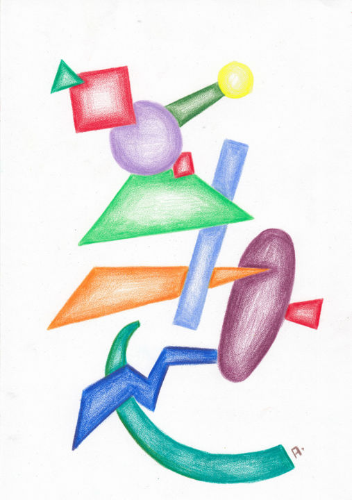 Abstract Drawing Shapes And Colors Drawing By Anton Maliar