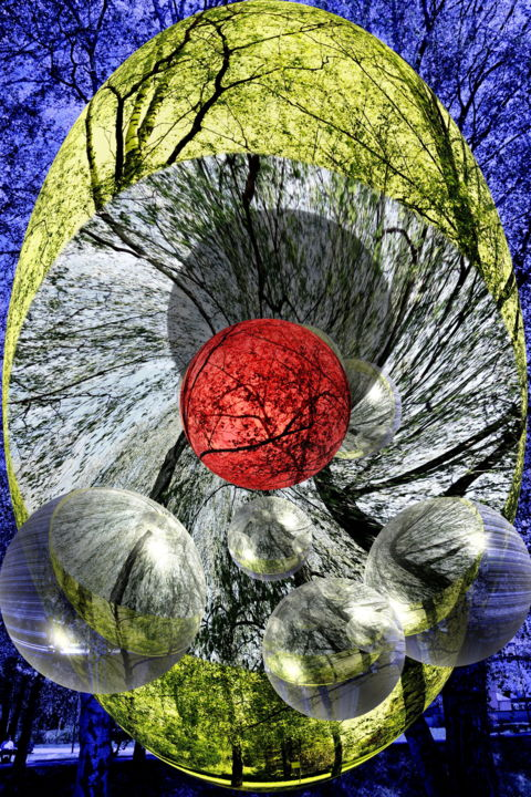 spot-on-red-or-journey-back-to-nature - Digital Arts, ©2019 by Anton Winzer -                                                                                                                                                                                                                                                                                                                                                                  Abstract, abstract-570, Other, Abstract Art, abstract, art, Virtual World