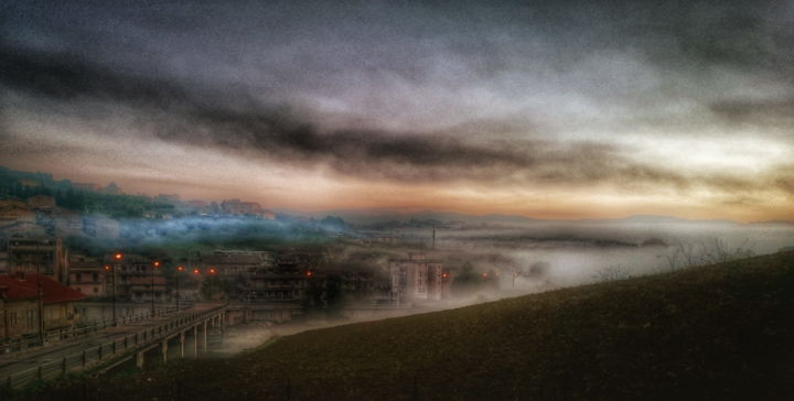 Sunset on the City - Photography, ©2017 by Antonio Castiglione -                                                                                                                                                                                                                                                                                              Other, Landscape, Seasons, Cities, Cityscape, Colors