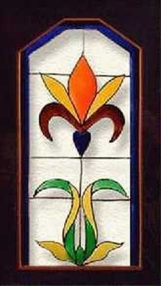 glass - Painting,  60x12 in, ©2004 by Saumya anuj -