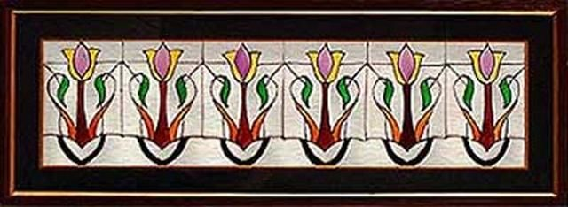stainedglass - Painting,  11.8x31.5 in, ©2004 by Saumya anuj -
