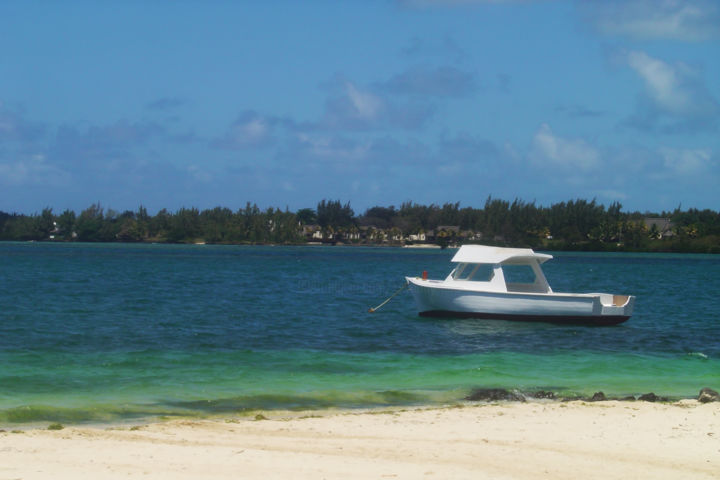 """Photography titled """"Boat by the beach"""" by Ak, Original Art,"""