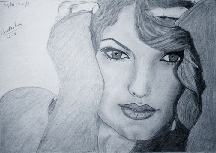 Taylor Swift Jpg Drawing By Anushka Ray Anushka Artmajeur