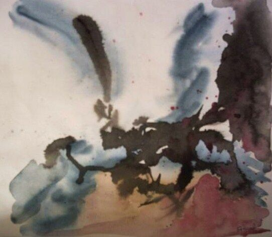 Sans titre - Painting,  9.8x10.6x0.4 in, ©2006 by Anval -