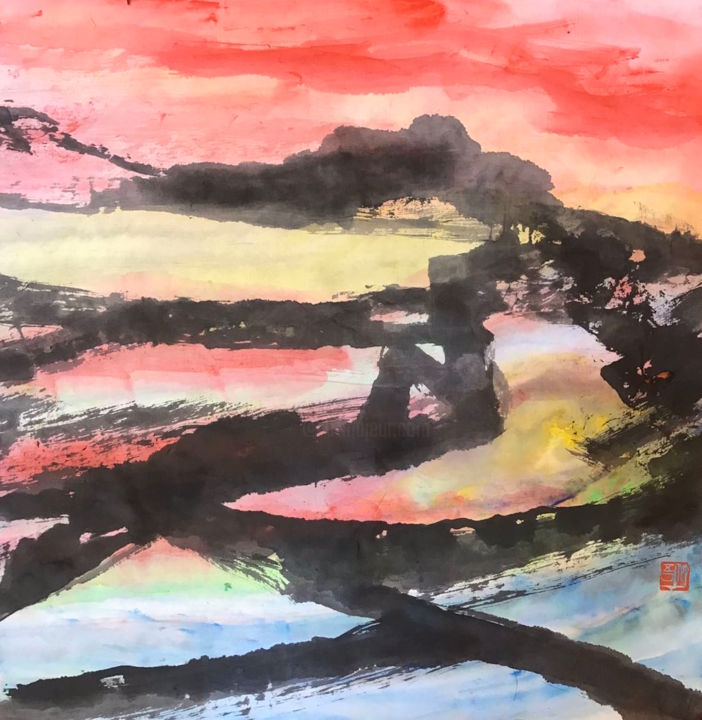 """Painting titled """"SH 35 - The Great W…"""" by Zhongwu 仲吾, Original Art, Ink"""