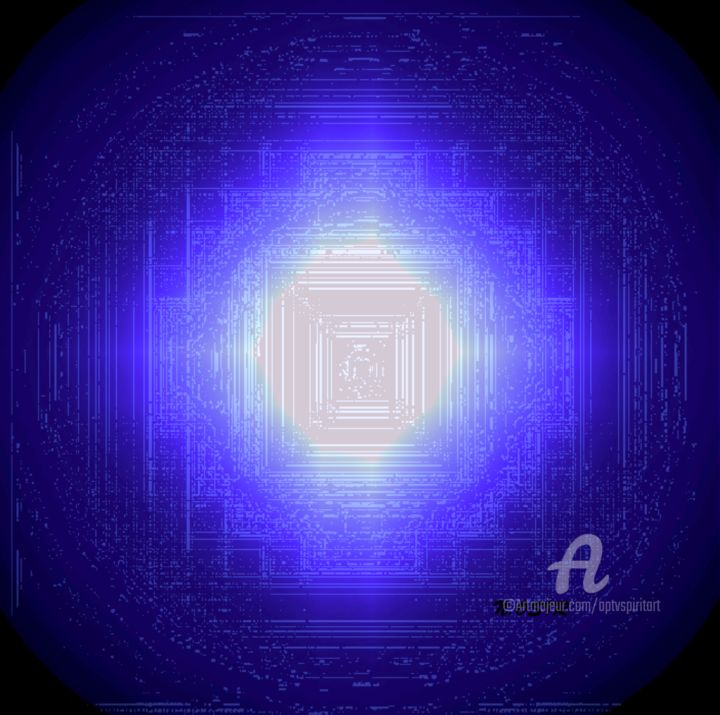 STARGATE SIRIUS A - 0.3 - Digital Arts,  12.5x12.6 in, ©2018 by Neterosiirê -                                                                                                              Other, Outer Space
