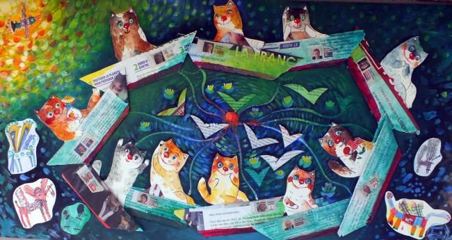 Painting,  40 x 80 cm ©2012 by A-Moscou-Chat -  Painting