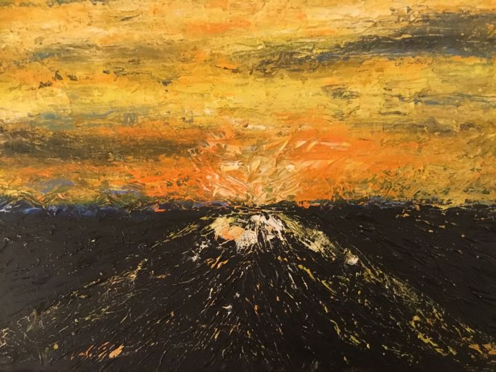 """Painting titled """"'Torch'"""" by Kay Nicté, Original Art, Oil"""