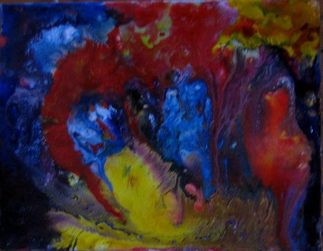 ST.AD.93. - Painting,  9.8x12.6 in, ©2013 by Arcadi -