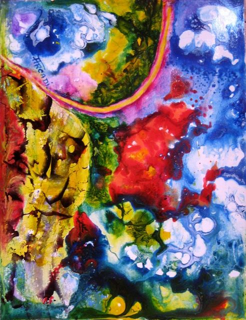 ST.AD.97. - Painting,  9.8x12.6 in, ©2013 by ARCADI -