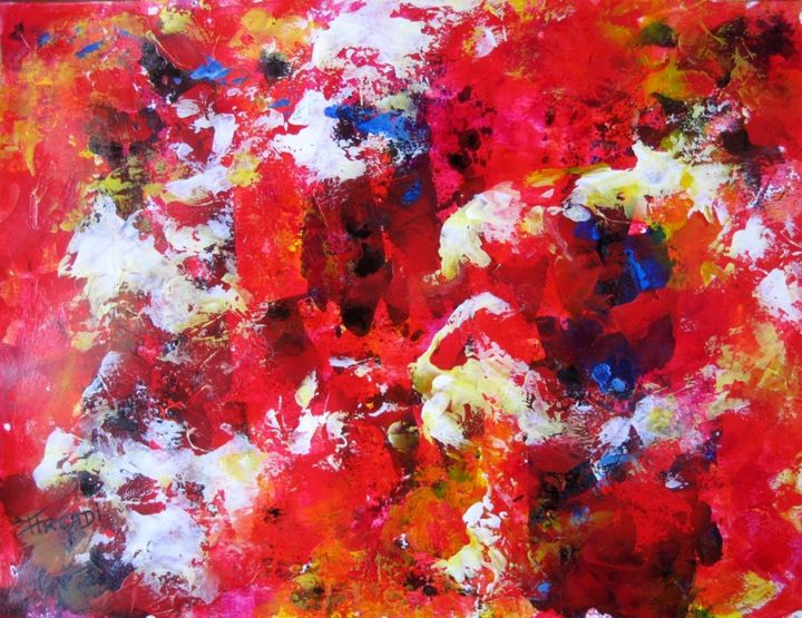 ST.AD.105. - Painting,  9.8x12.6 in, ©2014 by ARCADI -                                                                                                                          Abstract, abstract-570