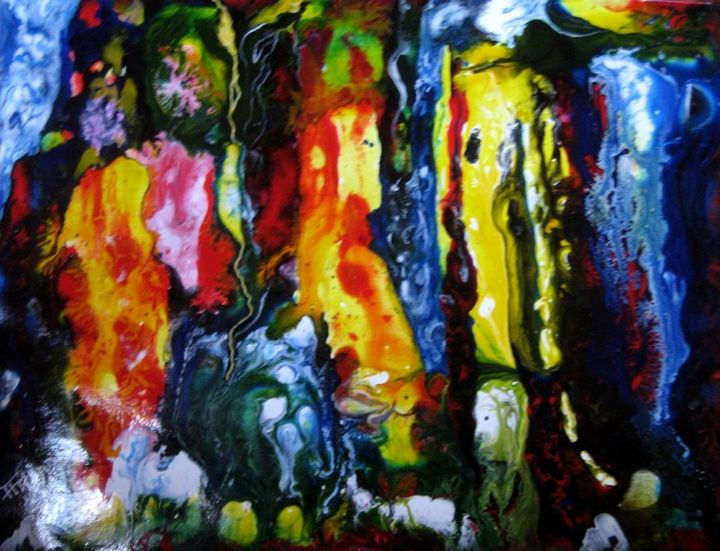 ST.AD.112. - Painting,  32x25 cm ©2014 by ARCADI -                        Abstract Art