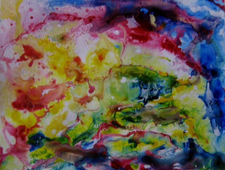 st-ad-116- - Painting,  9.8x12.6 in, ©2014 by Arcadi -                                                                                                                          Abstract, abstract-570