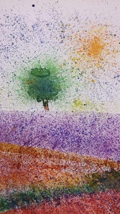 """Painting titled """"Tree"""" by Ayeh, Original Art, Watercolor"""