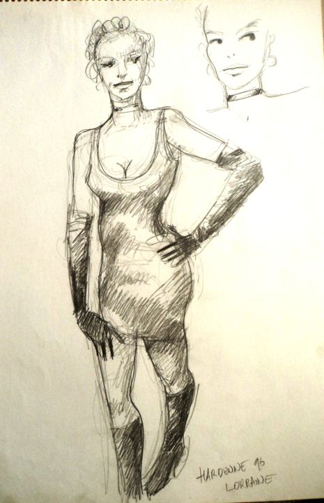 Lorraine - Drawing ©1998 by Claude Hardenne -