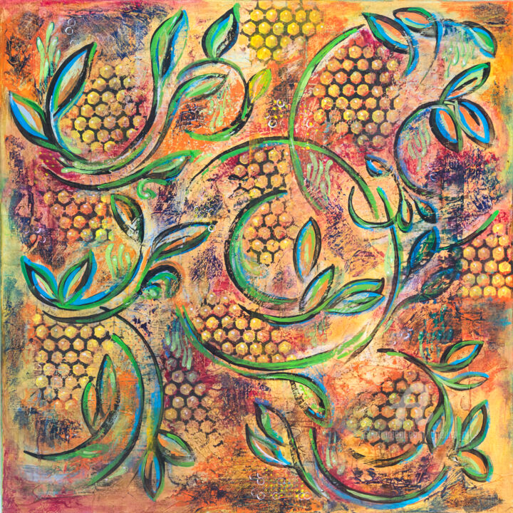 """Painting titled """"Nature Spiral"""" by Ariadna De Raadt, Original Art, Acrylic"""
