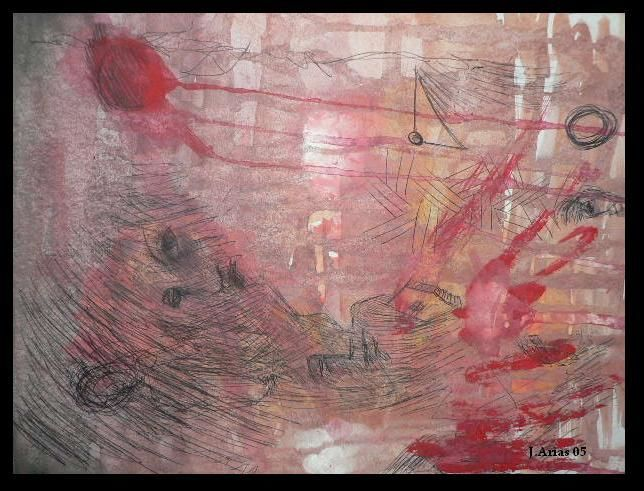 """Painting titled """"Violence"""" by Redred, Original Art,"""