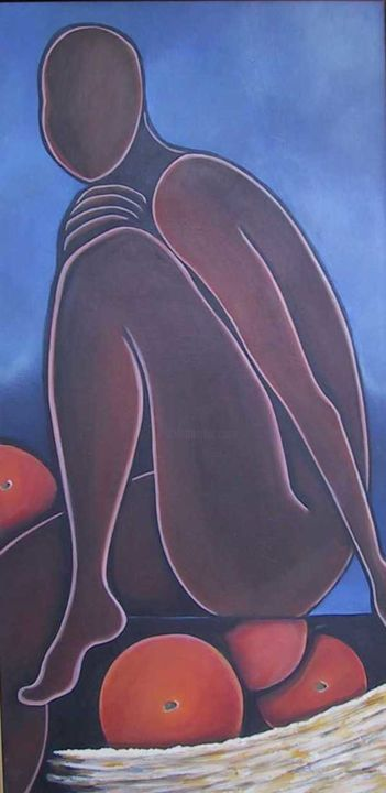 What Oranges...? - Painting ©2001 by Arlene Magloire -