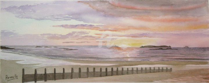 """Painting titled """"saint malo Rochebon…"""" by Armelle Cailly (Armelle), Original Art, Watercolor"""