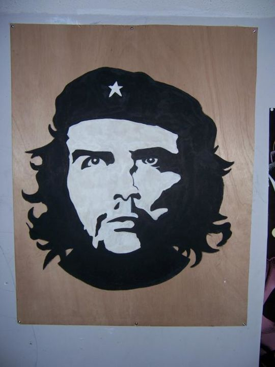 """Painting titled """"Che"""" by Alex Rojas, Original Art,"""
