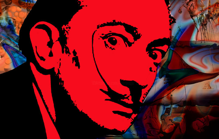 Dali - Digital Arts,  105x67 cm ©21018 by RONALDO BRAGA -                        Pop Art