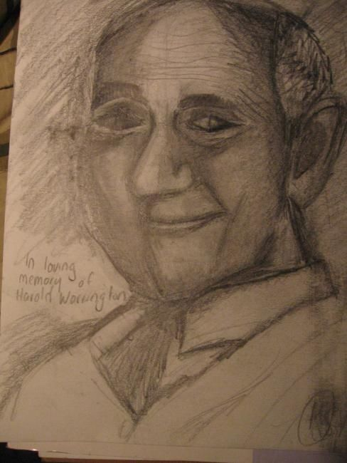 """Drawing titled """"In memory of Harold…"""" by Kirsty Foster, Original Art,"""