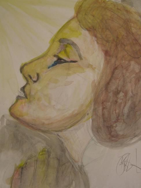 """Drawing titled """"A Prayer is answered"""" by Kirsty Foster, Original Art,"""