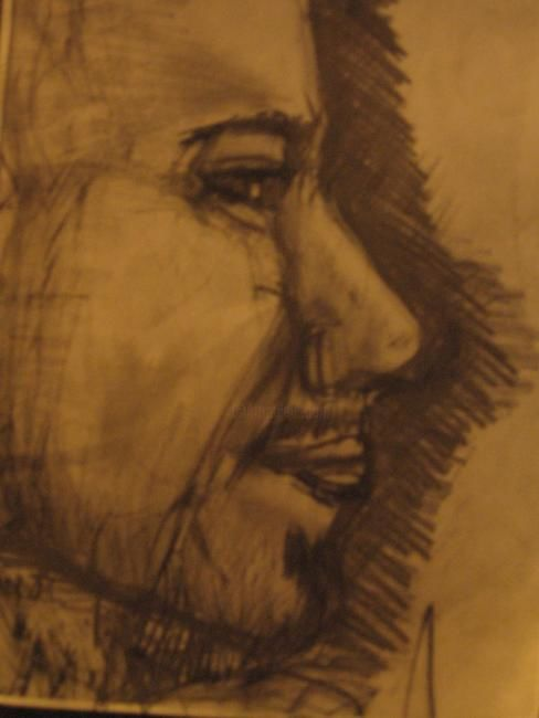 """Drawing titled """"James Foster"""" by Kirsty Foster, Original Art,"""