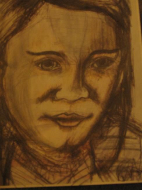 """Drawing titled """"Self Portrait"""" by Kirsty Foster, Original Art,"""