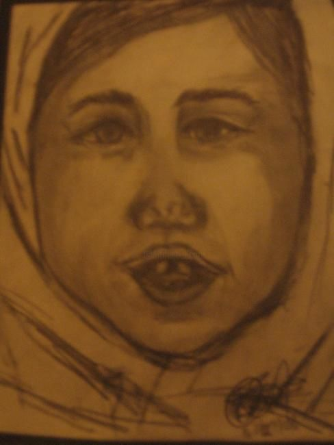 """Drawing titled """"Expression Study"""" by Kirsty Foster, Original Art,"""