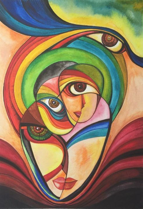 """Painting titled """"City of Beauty"""" by Arshad Khan, Original Art,"""