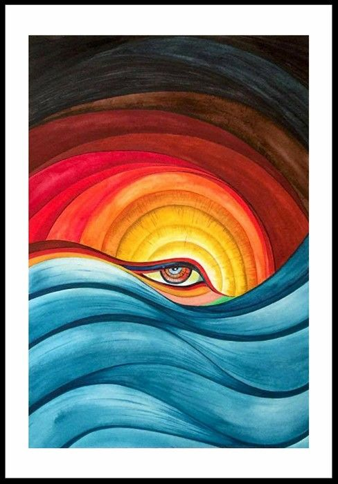 """Painting titled """"Mellow Pain"""" by Arshad Khan, Original Art, Watercolor"""