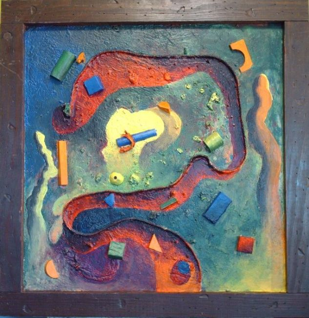 """Painting titled """"Novueval Times"""" by Matthew Tubbesing, Original Art,"""