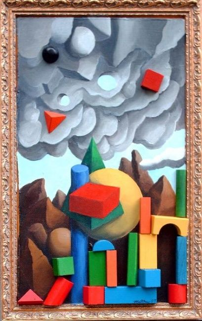 """Painting titled """"Landscape with Opti…"""" by Matthew Tubbesing, Original Art, Oil"""