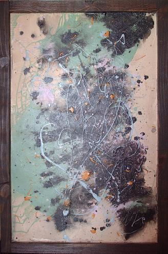 """Painting titled """"In the Beginning"""" by Matthew Tubbesing, Original Art, Oil"""