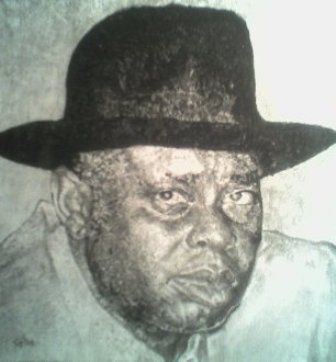 Chief Alamieyeseigha - Drawing,  9.2x8.6x0.4 in, ©2008 by Affordable Art -                                                              drawing art