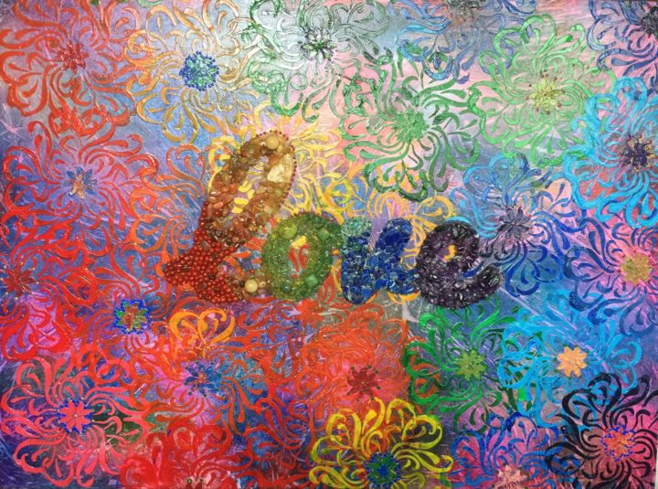 """Painting titled """"United Colours of L…"""" by Ayda Alp, Original Art, Acrylic"""