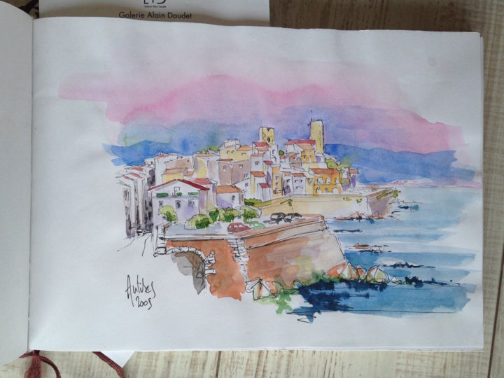 Antibes - Painting ©2016 by Dan -