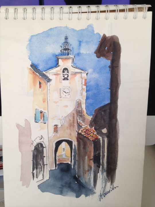 Roussillon - Painting, ©2016 by Dan -