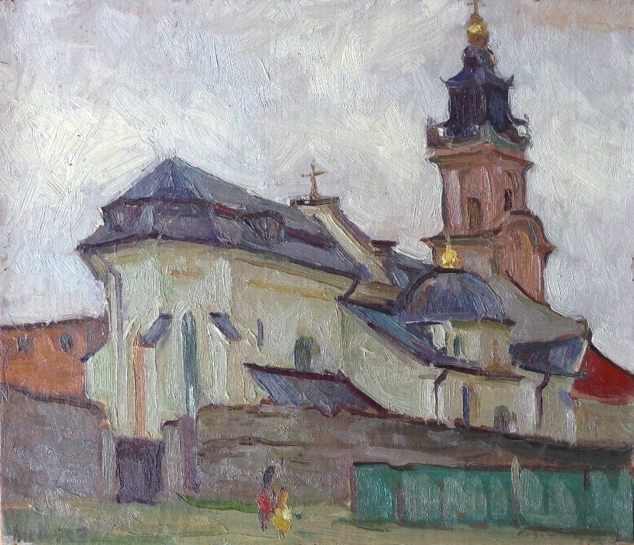 fortress in kamenetz podolsk painting 30x40 cm 2016 by paintings by various