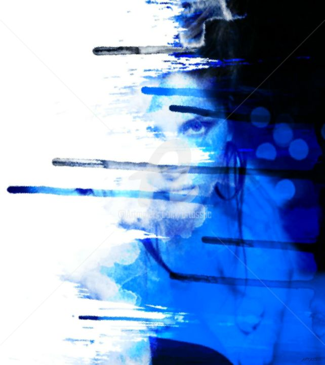 Celebrity Digital Arts, photo montage, abstract, artwork by Isabelle Cussat (Artassuc)