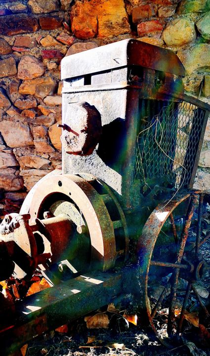 """Photography titled """"Pompe agricole"""" by Ludovic Cussigh, Original Art, Digital Photography"""