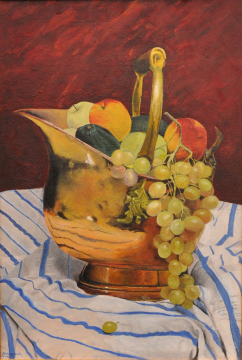 Nature morte au chaudron - © 2003 naturemorte;, chaudron;, cauldron;, caldera;, fruits; Online Artworks