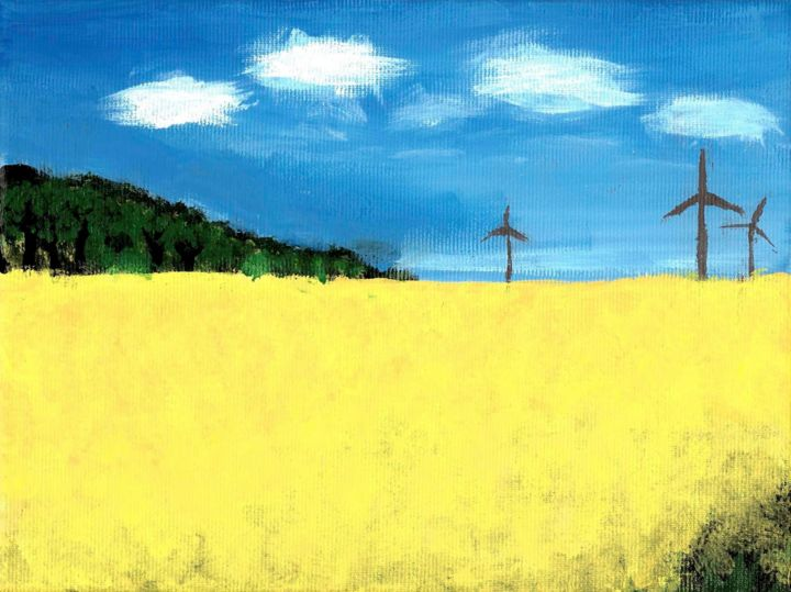 """Painting titled """"Energy sources"""" by Artbyar, Original Art, Acrylic"""