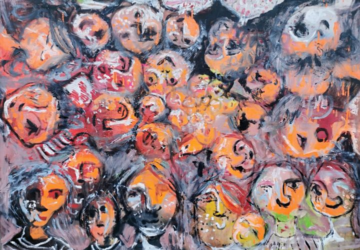 """Painting titled """"We are One"""" by Dalma Dobisz, Original Art, Oil"""