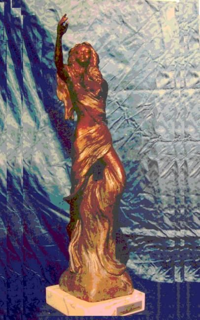 VITTORIA - Sculpture,  46x9x9 cm ©2006 by Angelo Pisciotta -                                                        Figurative Art, Bronze, Body